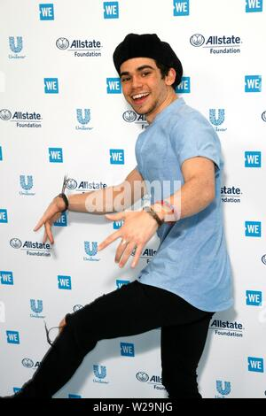 "***FILE PHOTO*** ACTOR CAMERON BOYCE HAS PASSED AWAY AT THE AGE OF 20 REPORTEDLY AS A RESULT OF A SEIZURE. LOS ANGELES, CA - APRIL 25: Cameron Boyce attends the WE Day California event at the ""Fabulous"" Forum on April 25, 2019 in Los Angeles, California. Photo: imageSPACE /MediaPunch Credit: MediaPunch Inc/Alamy Live News - Stock Photo"