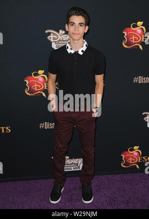 ***FILE PHOTO*** ACTOR CAMERON BOYCE HAS PASSED AWAY AT THE AGE OF 20 REPORTEDLY AS A RESULT OF A SEIZURE. BURBANK, CA - JULY 24: Cameron Boyce at the premiere of Disney's 'Descendants' at The Walt Disney Studios on July 24, 2015 in Burbank, California. Credit: PGSK/MediaPunch Credit: MediaPunch Inc/Alamy Live News - Stock Photo