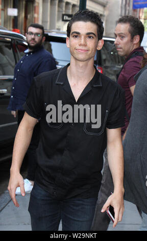 ***FILE PHOTO*** ACTOR CAMERON BOYCE HAS PASSED AWAY AT THE AGE OF 20 REPORTEDLY AS A RESULT OF A SEIZURE. NEW YORK, NY - JULY 17: Cameron Boyce at The Apple Store in SoHo promoting Descendants 2 in New York City on July 17, 2017. Credit: RW/MediaPunch - Stock Photo