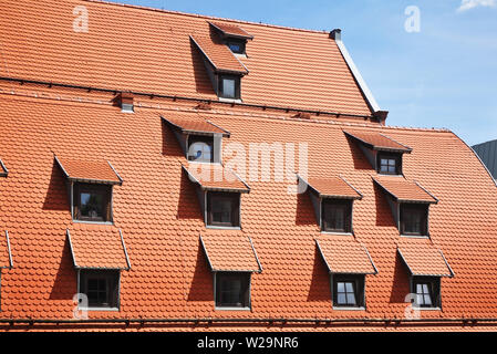 Old granary in Bydgoszcz. Poland - Stock Photo