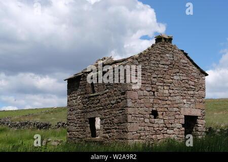 Derelict Stone Building - Stock Photo