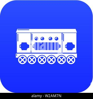 Compartment carriage icon blue vector - Stock Photo