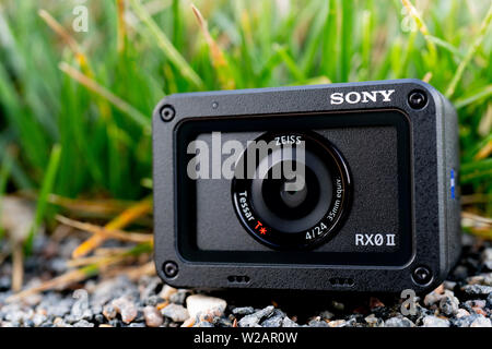 June 6, 2019 Russia, Moscow. Compact Camera Sony RX0 M2. editorial. - Stock Photo