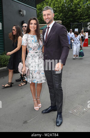 London, UK. 06th July, 2019. Carl and Rachael Froch on Day Six at The Wimbledon Championships tennis, Wimbledon, London on July 6, 2019 Credit: Paul Marriott/Alamy Live News - Stock Photo