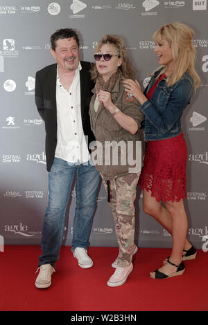 Cap of Agde, France. 21th June, 2019.Day 4 - Pascale d 'Inca, Grace de Capitani, Mathilde Bisson attend The Herault of Cinema and TV - Stock Photo