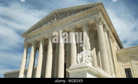 oblique shot of the us supreme court in washington d.c. - Stock Photo