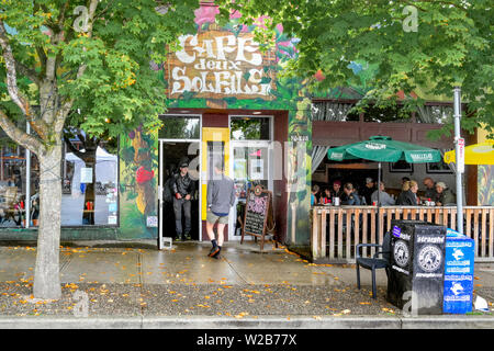 Cafe Deux Soleils, Commercial Drive, Vancouver, British Columbia, Canada - Stock Photo