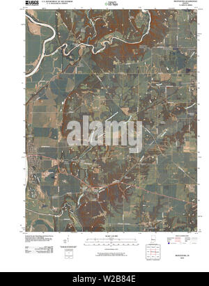 USGS TOPO Map Indiana IN Montezuma 20100512 TM Restoration - Stock Photo