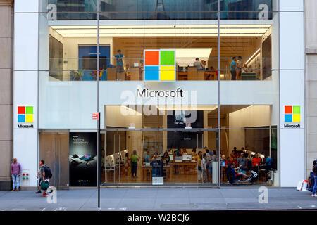 Microsoft Store, 677 Fifth Avenue, New York, NY - Stock Photo