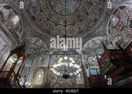 Albania, Tirana, Skanderbeg Square, Ethem Bey Mosque, interior - Stock Photo