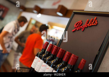 Australia, South Australia, Barossa Valley, Nuriootpa, Penfolds Winery, interior - Stock Photo
