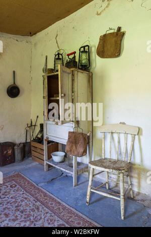 Australia, South Australia, Clare Valley, Penwortham, John Horrock's Cottage built by area pioneer in 1839, interior - Stock Photo
