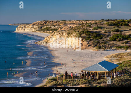 Australia, South Australia, Fleurieu Peninsula, Port Willunga, sunset - Stock Photo