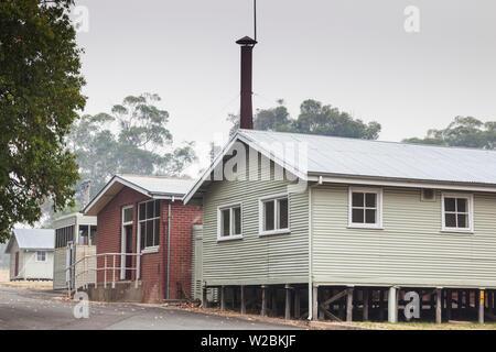 Australia, Victoria, VIC, Bonegilla, The Bonegilla Migrant Experience Museum, post-WW2 immigrant facility, housing barracks exterior - Stock Photo