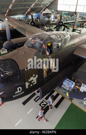 Australia, Western Australia, Bull Creek, RAAF Aviation Heritage Museum, WW2-era Avro Lancaster bomber aircraft - Stock Photo