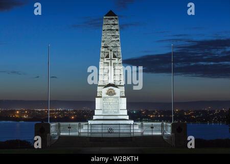 Australia, Western Australia, Perth, Kings Park, State War Memorial, dawn - Stock Photo