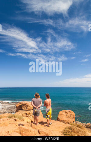 Australia, Western Australia, The Southwest, Prevelly, Surfers Point, with visitors, NR - Stock Photo