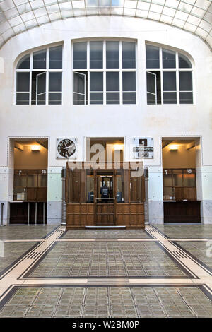 Otto Wagner's Postsparkasse, Vienna, Austria, Central Europe - Stock Photo