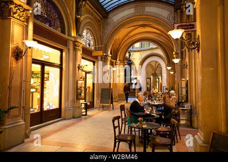 Cafe in Freyung Passage, Vienna, Austria, Central Europe - Stock Photo