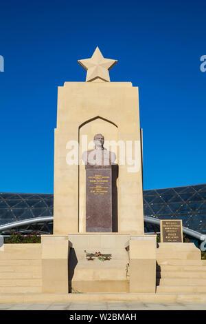 Azerbaijan, Baku, Sahidlar Xiyabani - Martyr's Lane, Entrance to Funicular Railway - Stock Photo
