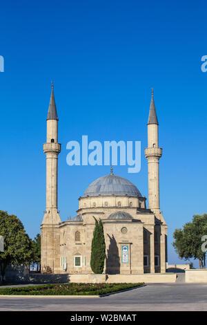 Azerbaijan, Baku, Sahidlar Xiyabani - Martyr's Lane, Martyrs mosque - Stock Photo