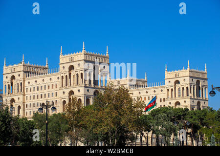 Azerbaijan, Baku, Government House, housing various state ministries of Azerbaijan - Stock Photo