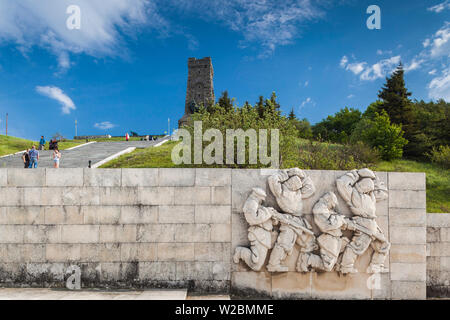 Bulgaria, Central Mountains, Shipka, Shipka Pass, Freedom Monument built in 1934 to commemorate Battle of the Shipka Pass from the Russian-Turkish War of 1877 - Stock Photo