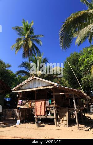 Myanmar (Burma), Rakhine State, Mrauk U, Chin Village - Stock Photo