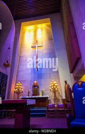 Canada, Quebec, Montreal, Oratory of Saint Joseph, church interior - Stock Photo