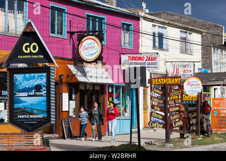 Chile, Magallanes Region, Puerto Natales, street view - Stock Photo