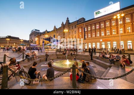 Trg Josip Jelacica Square, Zagreb, Croatia - Stock Photo