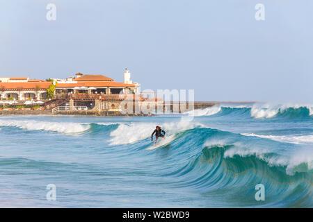 Surfer, Santa Maria, Sal Island, Cape Verde - Stock Photo