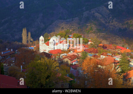 Church Of The Holy Cross In The Village Of Pedoulas, Troodos Mountains, Cyprus, Eastern Mediterranean Sea - Stock Photo