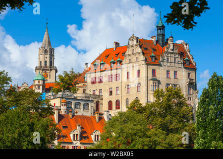 Sigmaringen Castle, Swabia, Baden Wurttemberg, Germany, Europe - Stock Photo