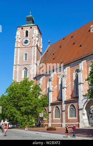Cathedral, Old Town, Ingolstadt, Bavaria, Germany - Stock Photo