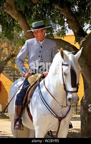 Yeguada de la Cartuja, Finca Fuente del Suero, Jerez de la Frontera, Cadiz Province, Andalusia, Spain - Stock Photo