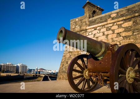Spain, Canary Islands, Lanzarote, Arecife, Castillo San Gabriel Museum, exterior - Stock Photo