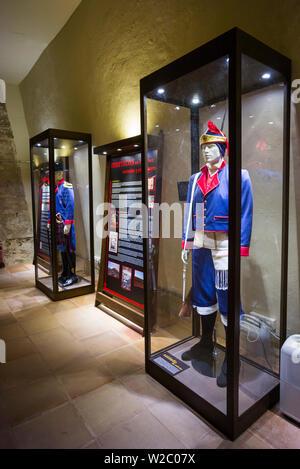 Spain, Canary Islands, Lanzarote, Arecife, Castillo San Gabriel Museum, interior - Stock Photo