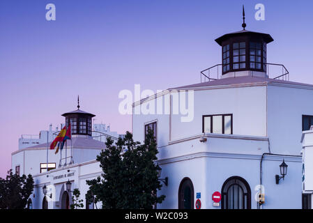 Spain, Canary Islands, Lanzarote, Arecife, town hall, dawn - Stock Photo