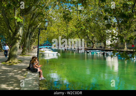 Annecy, Lake Annecy, Haute-Savoie, Rhone-Alpes, France - Stock Photo