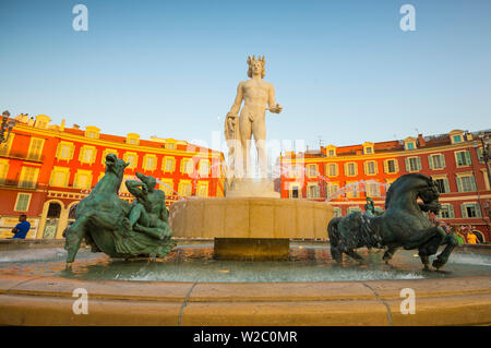 Place Massena, Nice, Alpes-Maritimes, Provence-Alpes-Cote D'Azur, French Riviera, France - Stock Photo