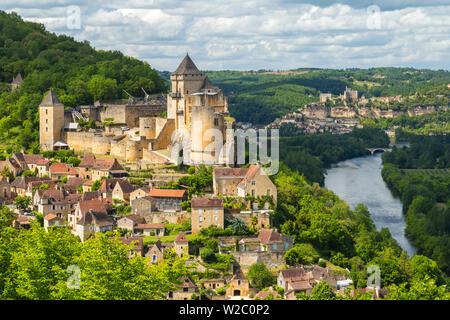 Chateau de Castelnaud, Castelnaud, Dordogne, Aquitaine, France - Stock Photo