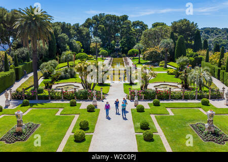 Villa Ephrussi de Rothschild, villa Ile-de-France, Saint-Jean-Cap-Ferrat, French Riviera, Alpes-Maritimes department, France - Stock Photo