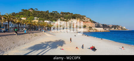Promenade des Anglais, Nice, Alpes Maritimes departement, France - Stock Photo