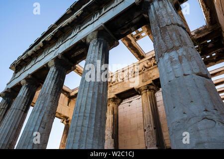 Greece, Athens, Ancient Agora, Temple of Hephaestus - Stock Photo