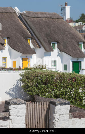 Ireland, County Waterford, Dunmore East, traditional cottage detail