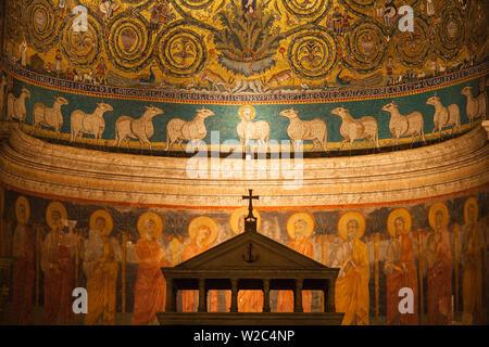 Italy, Lazio, Rome, Piazza Saint Clement, Basilica di San Clemente - Stock Photo