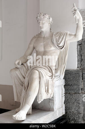 Statue of Augustus, Herculaneum, National Archaeological Museum, Naples, Campania, Italy - Stock Photo