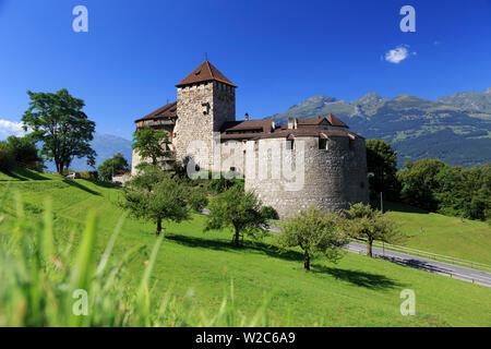 Liechtenstein, Vaduz, Vaduz Castle (Schloss Vaduz) - Stock Photo