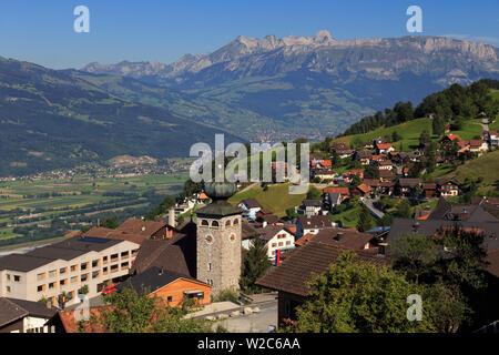 Liechtenstein, Steg Village, Triesen town - Stock Photo